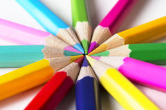 Set of drawing color pencils with copy space Royalty Free Stock Photo