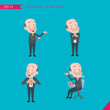 Set of drawing flat character style, business concept ceo activities - introducing, confidence, office worker, communications Royalty Free Stock Image