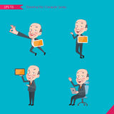 Set of drawing flat character style, business concept ceo activities - Stock Photos