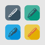 Set of drawing and writing tools Royalty Free Stock Photo