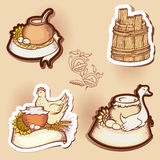 Set of drawings Royalty Free Stock Photo