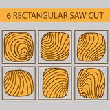 A set of drawings of rectangular cut tree Royalty Free Stock Images