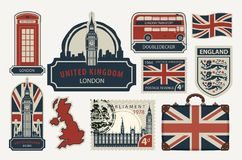 Set of drawings on the theme of Great Britain Royalty Free Stock Photography