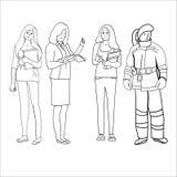 Female professions stock illustration