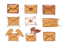 Set Of Drawn Messages Royalty Free Stock Photo