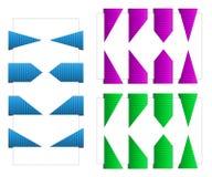 Set Dreieck-Bookmarks mit Beschaffenheit Stockfotografie