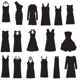 Set of dresses isolated on white Stock Photo