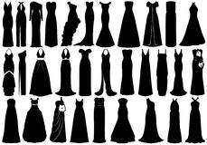 Set Of Dresses Stock Photos