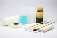 Set of dressing wound Royalty Free Stock Photography