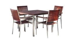 Set drewna krzesła i stołu zestaw Obrazy Royalty Free