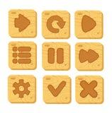 Set drewniani guziki Obrazy Stock