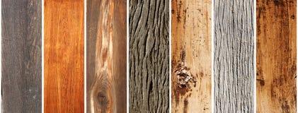 Set drewniani sztandary Fotografia Royalty Free