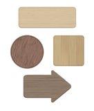 Set drewniani znaki Zdjęcie Royalty Free