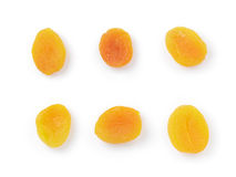 Set of dried apricots from above Royalty Free Stock Images