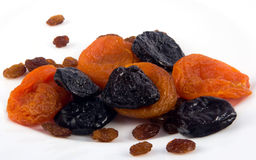 Set of dried fruit Royalty Free Stock Images