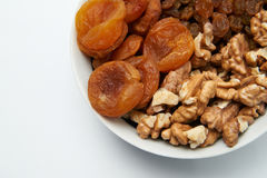 Set of dried fruits Stock Photos