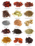 Set from dried herbs, berries and seeds Royalty Free Stock Image