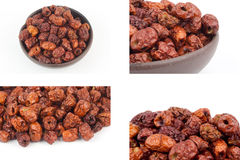 Set of dried monkey apples Royalty Free Stock Images