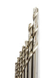 Set of drill bits Stock Image