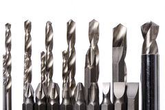 Set of drill bits Stock Photos