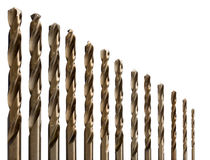 Set of drill bits for metal. Stock Photography