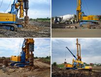 Set of drilling machinery royalty free stock image