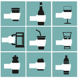 Set of drink Royalty Free Stock Photos