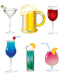 Set of drinks stock photo