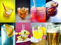 Set of Drinks Stock Image