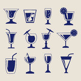 Set of Drinks icon set Royalty Free Stock Image