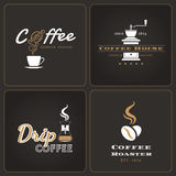 Set of drip coffee shop badges and labels Stock Photography