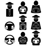 Set of  Driver Icons  on White Background. Stock Image