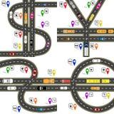 Set drogowi złącza, przypomina dolarowych znaki, euro, funt, jen, Juan Sposób nawigator Humorystyczny wizerunek ilustracji