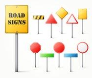 Set drogowi znaki Zdjęcie Stock
