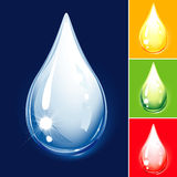 Set Of Droplets. Drop Color Variations, editable vector illustration Stock Photo
