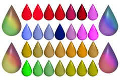 Set Of Drops Royalty Free Stock Photo