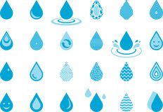 Set of Drops Royalty Free Stock Images