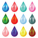 Set of drops Stock Image