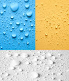 Set of drops water Stock Image