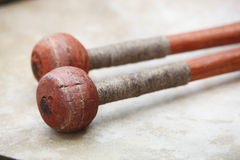 A set of drum sticks Royalty Free Stock Images