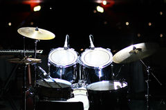 Set of drums in club Stock Photos