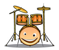 Set of drums and cymbals for a band Stock Photos