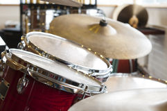Set of drums at music school Stock Photos