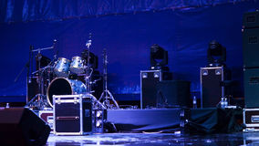 Set of drums on a stage Royalty Free Stock Image