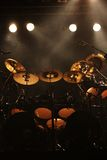 Set of drums on stage Royalty Free Stock Images