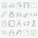 Set of dry cleaning icons Stock Photography