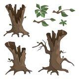 Set of dry trees cartoon Royalty Free Stock Photography