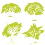 Set drzewa pojęcia eco pokoju gołębie Obrazy Royalty Free