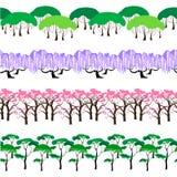 Set Drzewnej linii wzory Ilustracja Wektor