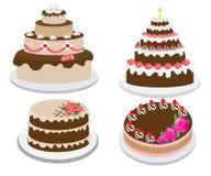 Set duży tort Obraz Royalty Free